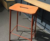 Adam Stool with Leather Seat